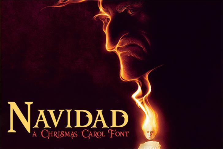 Navidad Font poster book