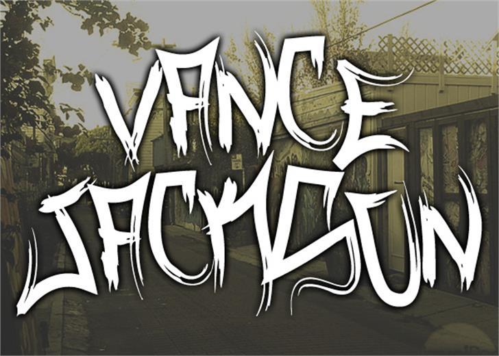 Vance Jackson Font drawing handwriting