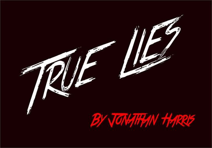True Lies Font design text