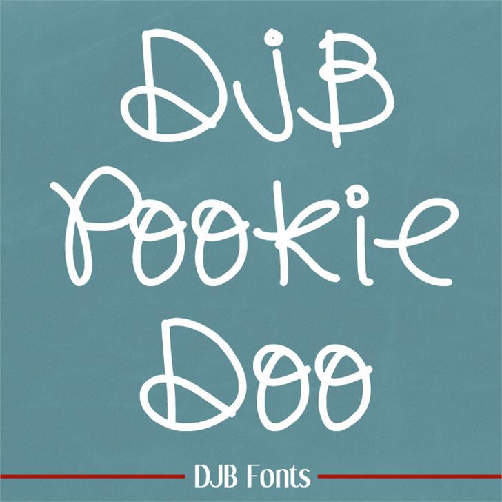 DJB Pookie Doo Font blackboard handwriting