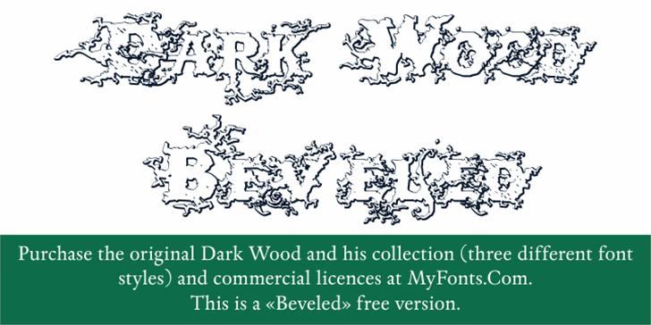 DarkWoodBeveled Font handwriting design