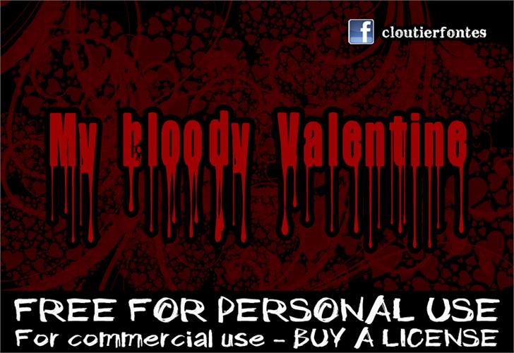 CF My Bloody Valentine Font poster screenshot