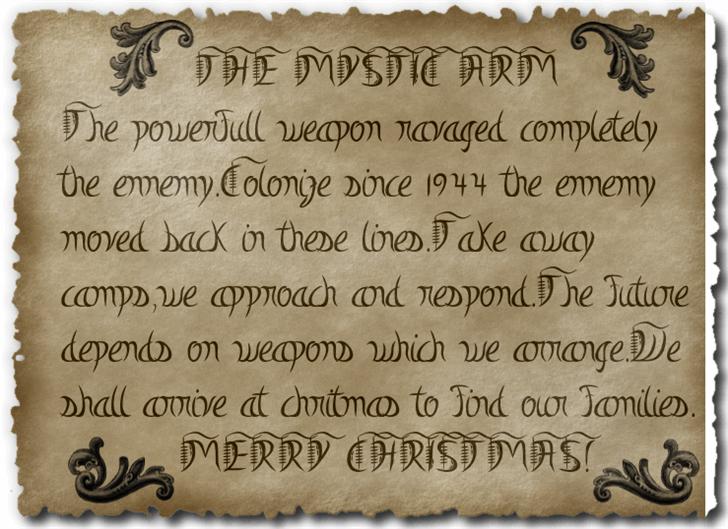 Mystic-Arm Font text handwriting