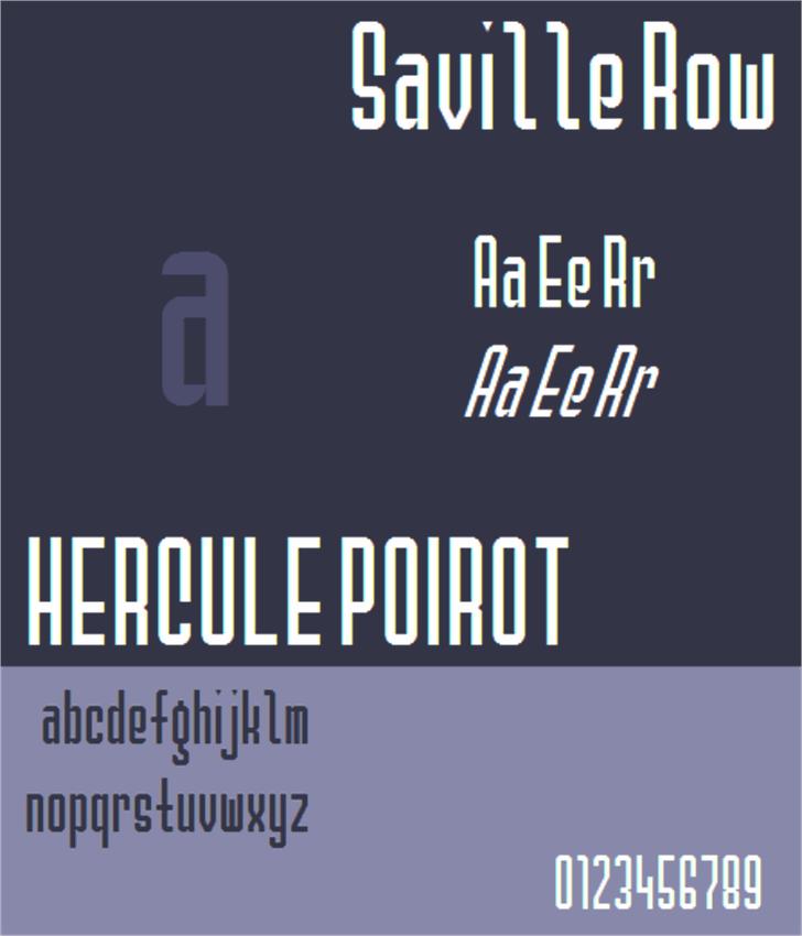 Saville Row NBP Font design graphic
