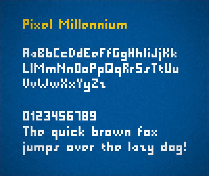 Pixel Millennium Font screenshot design