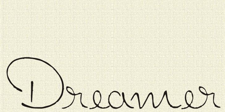 Dreamer Font handwriting text