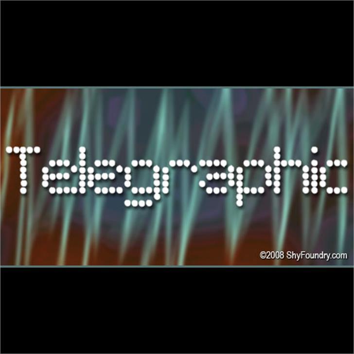 SF Telegraphic Font screenshot