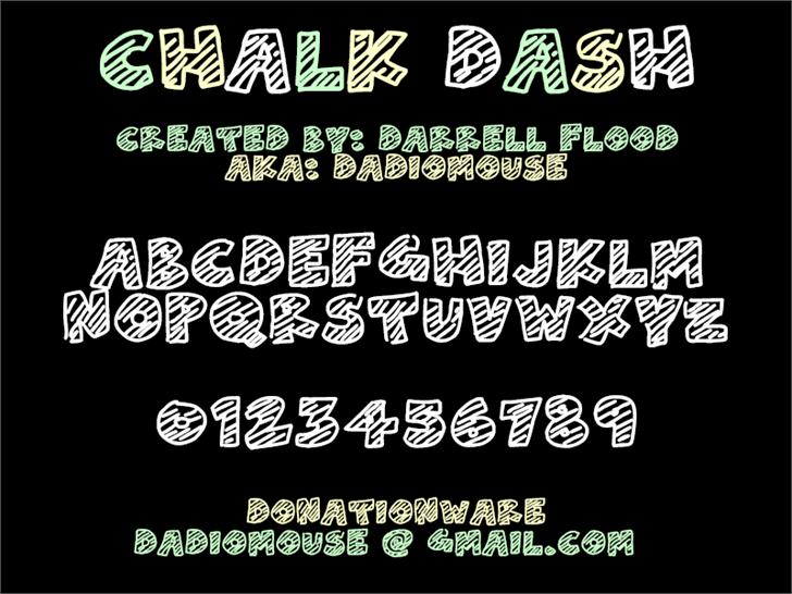Chalk Dash Font screenshot typography
