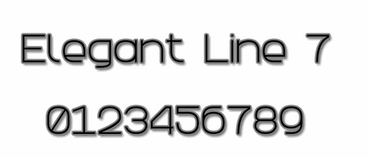 Elegant Line 7 Font design typography