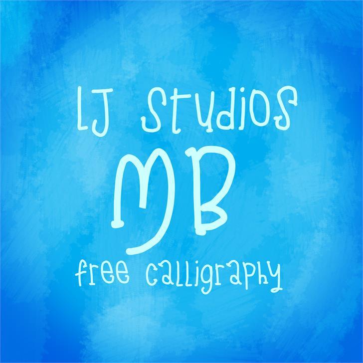 LJ Studios MB Font text typography