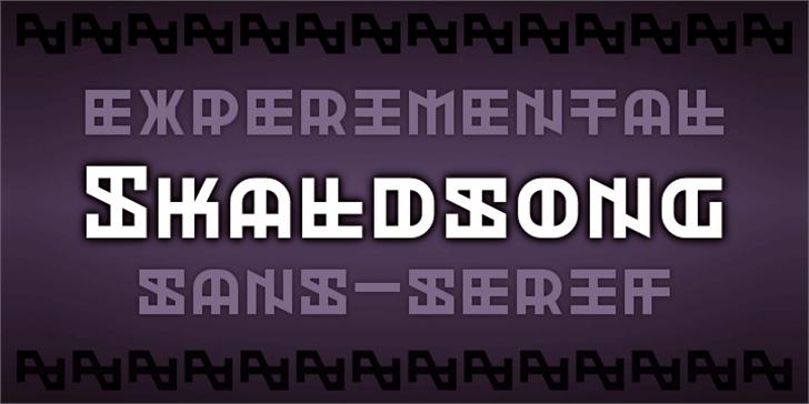 Skaldsong Font screenshot bottle