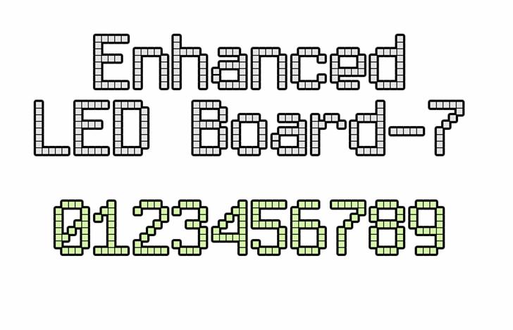 Enhanced LED Board-7 Font screenshot parallel