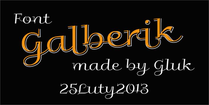 Galberik Font design text