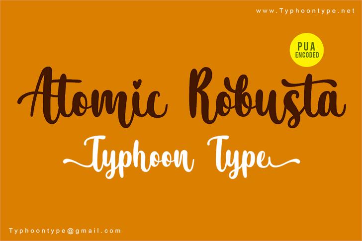 Atomic Robusta - Personal Use Font design handwriting