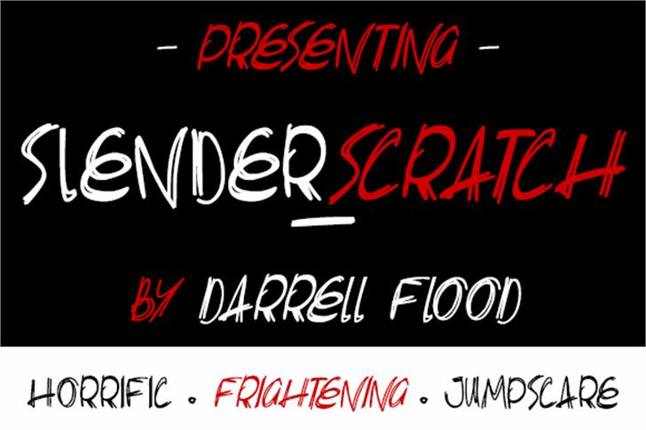 Slenderscratch Font screenshot design