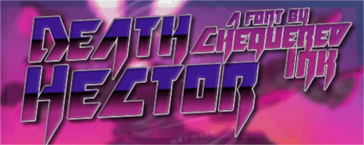 Death Hector Font poster screenshot