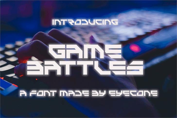 Game Battles Font screenshot design