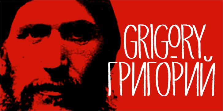 DK Grigory Font poster human face