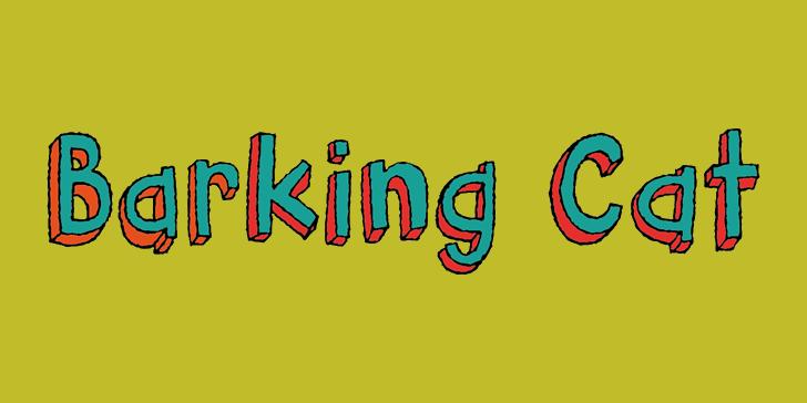 Barking Cat DEMO Font design illustration