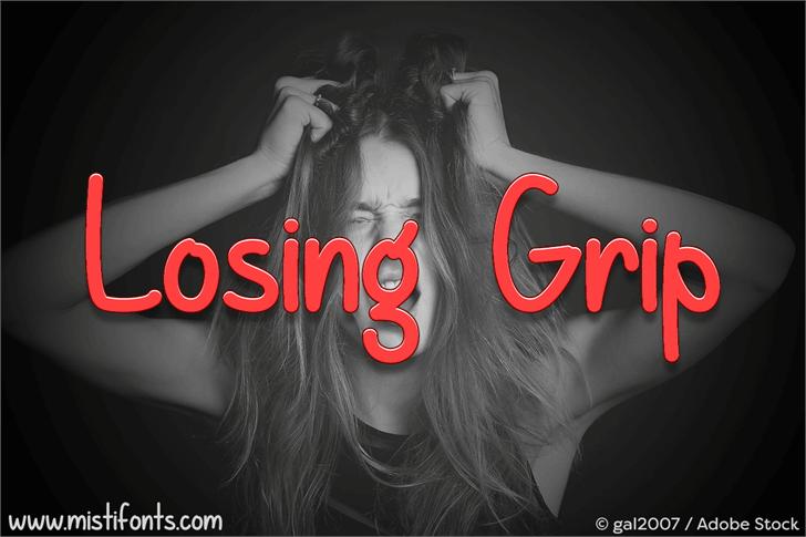 Losing Grip Font screenshot design