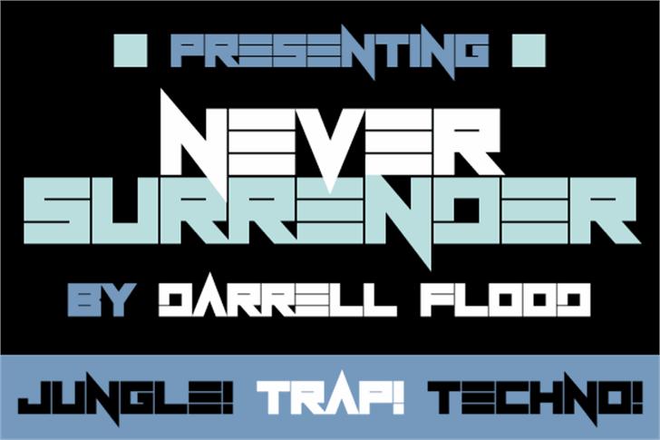Never Surrender Font screenshot poster