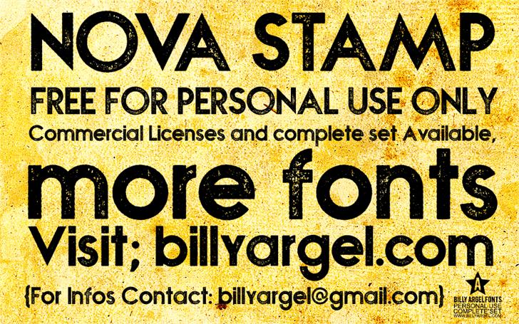 NOVA STAMP Font poster book
