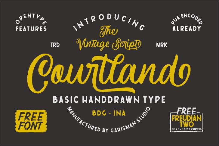Courtland Font design screenshot