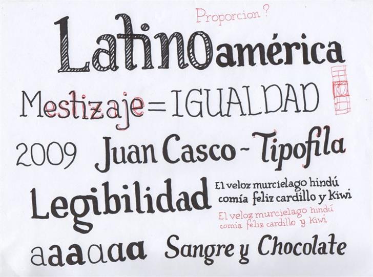 Tipófila Font text handwriting