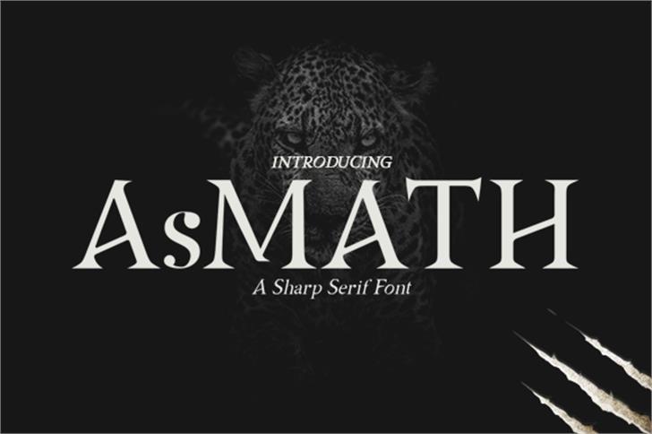 Asmath Free Font poster design