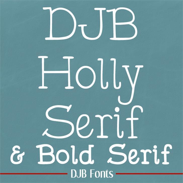 DJB Holly Serif Font blackboard text