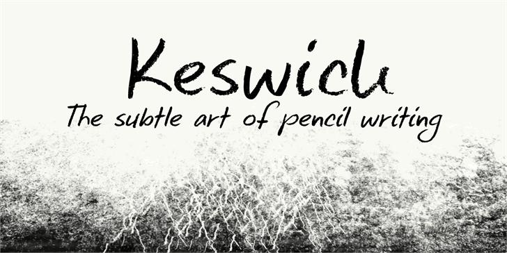 DK Keswick Font handwriting outdoor