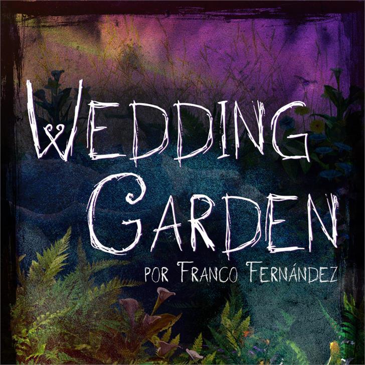 Wedding Garden Font text tree