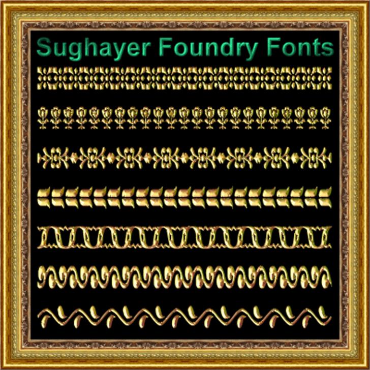 Vintage Borders_019 Font screenshot typography