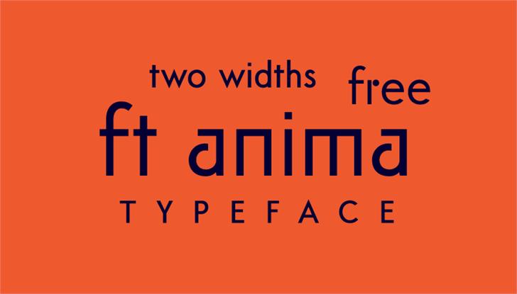 ft anima Font screenshot font