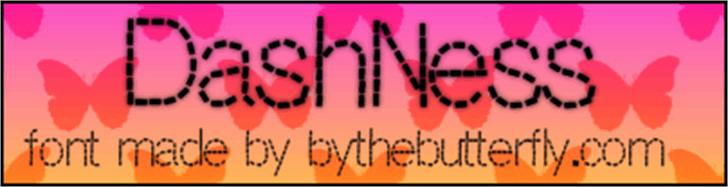 DashNess Font handwriting device
