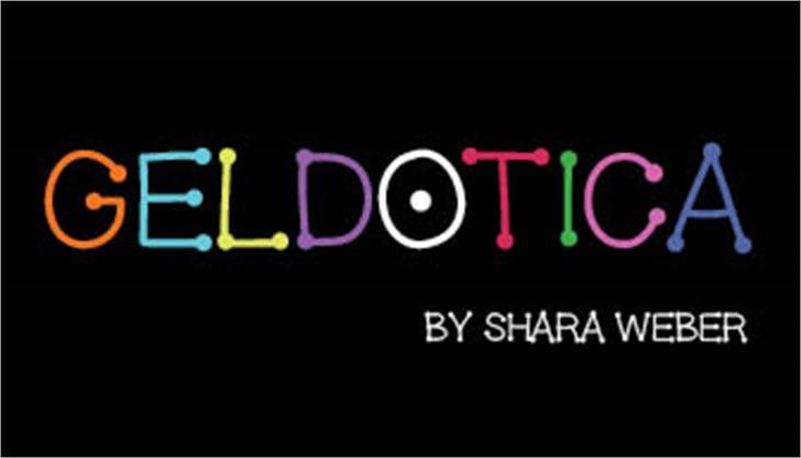 GelDotica Font screenshot design